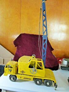 Vintage NYLINT Clark Equipment T-24 Michigan Yellow Metal Crane 1960's