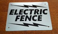 """Electric Fence vintage look Sign 5"""" x 7"""" Galvanized Metal Free Shipping"""