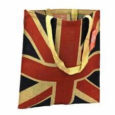 Union Jack Jute Reusable Shopping Bag - Tote Shopper UK Flag London