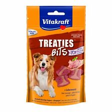Vitakraft Dog Snacks Treaties Bits Liver Sausage - 6 x 120g - Soft Snack Treats