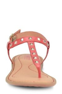 BORN Women's Size 11 M Red Fire Studded Sandals Summer Shoes NIB