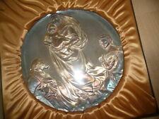 Cistine Madonna Sterling Silver 9 oz 1973 Xmas Plate Ltd Ed Catholic Mint Nib