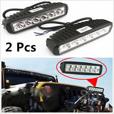 2 Pcs 6LED 18W Elongated Strips Vehicle Off-Road Headlight Working Spot Lights