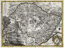 Moldova Original Copperplate Map Van Der Bruggen 1737