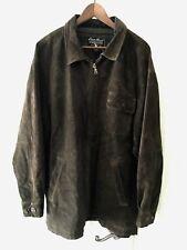 Men's Eddie Bauer Suede Leather Jacket Brown Sz L GUC