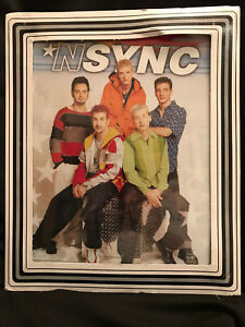 NSYNC Boys Promotional Paper Colored Photo Glass Cardboard Frame 1999
