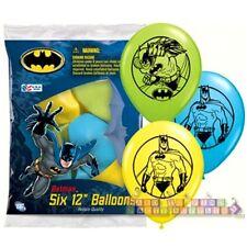 BATMAN LATEX BALLOONS (6) ~ Birthday Party Supplies Favors Decorations Helium