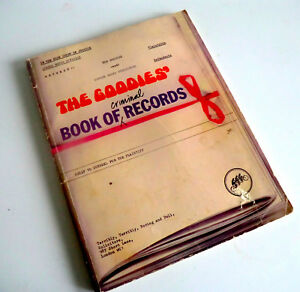 VINTAGE TV SPIN-OFF BOOK - THE GOODIES BOOK OF CRIMINAL RECORDS - 1975