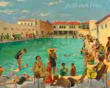 People's Pool by John Lavery - Summer Water Swimming Women Men 8x10 Print 2257