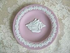 WEDGWOOD PINK JASPERWARE CONCH SEASHELL PLATE PIN DISH