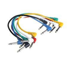Pack of 6pcs Electric Guitar Patch Cable Effects Pedal Cords O0E8