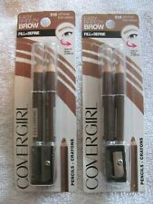 Cover Girl Soft Brown Easy Breezy Brow Fill + Define Pencils #510 Lot of 2 packs