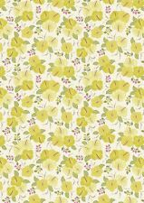 Fat Quarter Island Girl Yellow Hibiscus Flowers 100% Cotton Quilting Fabric
