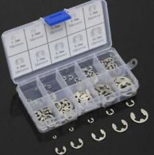 120Pcs 304 Stainless Steel E-Clip Retaining Circlip Assortment Kit 1.5mm to10mm~