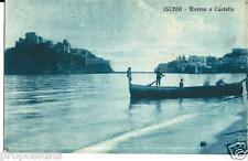 cm 188 Anni 20 ISCHIA (Napoli) Marina e Castello - Barca - non viagg FP Ed.Zedda