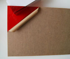 "Cell Cast Acrylic Plexiglass Light Red Plastic Sheet 1/8"" X 8"" X 12"" AK260"