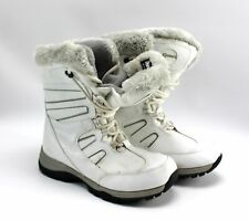 Womens QUEST WOS Glacier White Thinsulate Lined Snow Winter Boots Size 7