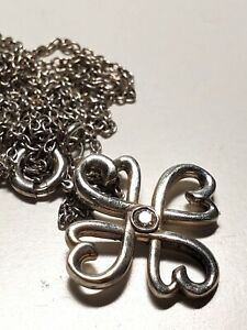 Tiffany Picasso Hearts Diamond Necklace in Sterling Silver 925