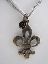 Betsey Johnson gold tone fleur de lis necklace,NWT