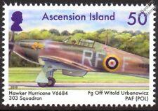 WWII RAF 303 Poland Squadron HURRICANE V6684 Aircraft Stamp (Witold Urbanowicz)