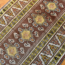Turkish Milas Hand-knotted Vintage Traditional Oriental Wool Rug 210 X 117cm