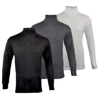 Mens Thermal Underwear Polo Neck Long Sleeve Top Ski Warm Winter T Shirt M-XL