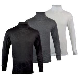 Mens Thermal Underwear Polo Neck Long Sleeve Top Ski Warm Winter T Shirt M-XL