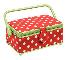 Sewing Basket/Yarn Dispenser/Pocket/Stricknadeletui Polka Dots From Prym Red/