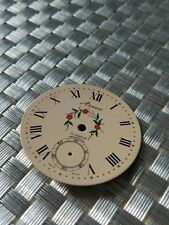 vintage used pocket watch dial for Unitas 6498 movement hunter case for parts