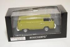 . MINICHAMPS VW VOLKSWAGEN TRANSPORTER T2 BUS KASTENWAGEN 1972 GREEN MINT BOXED