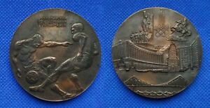 1980 Football Medal Plaque XXII Olympic Games Soccer Kiev Moscow 80 USSR Rare