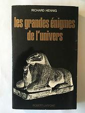 LES GRANDES ENIGMES DE L'UNIVERS 1966 RICHARD HENNIG ILLUSTRE