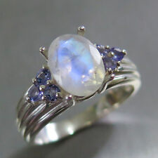 Moonstone Engagement Cocktail Fine Rings