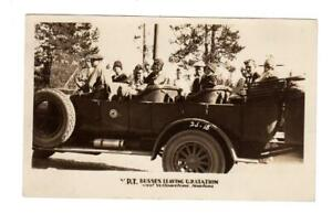 MT - WEST YELLOWSTONE MONTANA NATIONAL PARK RPPC Postcard Y.P.T. TOURING BUS