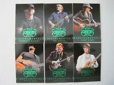2014 Panini Country Music Instrumental Green Parallel Insert Set  (15 Cards)