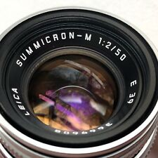 Leica Summicron-M 50mm f/2.0 MF Chrome Lens