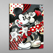 HD Print Home Art Wall Deco Painting Disney Mickey Kisses Minnie on Canvas 16x22