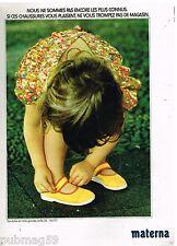 Publicité Advertising 1973 Les chaussures pour enfants Materna