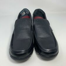 Red Chief Mens Power Flex Loafers Shoes Black Leather Slip-On Moc Toe Casual 8