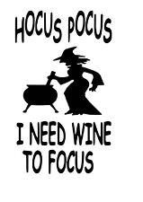 Hocus Pocus Wine Bottle Decal / Sticker (bottle not included)