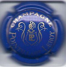 Capsule de champagne Pointillart Leroy N°17 BLEU Inscription Or