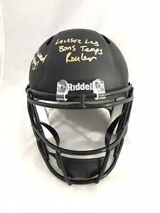 NEW ORLEANS SAINTS RICKY WILLIAMS signed INSCRIBED RIDDELL FULL SIZE HELMET JSA