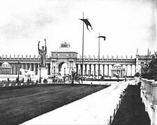1893 WORLD'S COLUMBIAN EXPOSITION PERISTYLE 8x10 SILVER HALIDE PHOTO PRINT