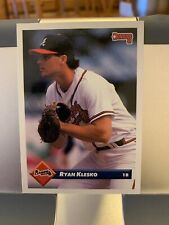 1993 Donruss #422 Ryan Klesko Atlanta Braves Baseball Card