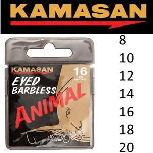 Kamasan ANIMAL EYED Barbless Hooks Coarse Match Fishing