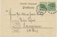 "DT.REICH ""CASSEL / 1"" (KASSEL) K2 a. Kab.-Postkarte nach ""LANGNAU / (BERN)"" CH"
