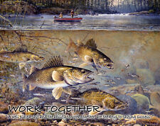 Walleye Fishing Motivational Art Print Vintage Fish Lures Hunting Gifts MVP162