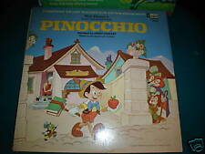 walt disney LP RECORD PINOCCHIO CLEAN 1ST PRESSING 1969