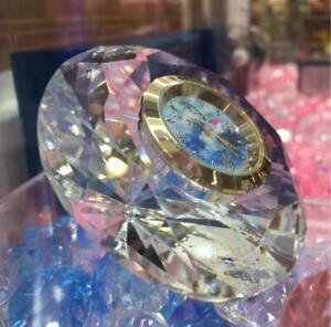 Novelty Frozen Premium Diamond Cut Crystal Clock