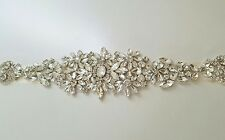 "Wedding Belt, Bridal Sash Belt - Crystal Wedding Sash Belt = 15 1/4"" long"